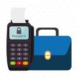 Dataphone password money secure Royalty Free Stock Images