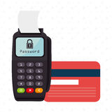 Dataphone password money secure Royalty Free Stock Image
