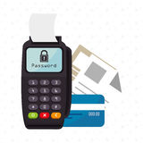 Dataphone password money secure Royalty Free Stock Photo