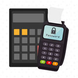 Dataphone password money secure Stock Images