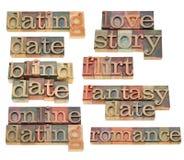 Datar, namoradeira e romance Foto de Stock