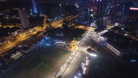 DATARAN MERDEKA nocy widok z lotu ptaka Fotografia Stock