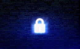 Datasäkerhet och datorserveren knyter kontakt säkerhet med en protecti Royaltyfria Foton