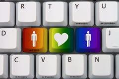 Datation en ligne Photographie stock libre de droits