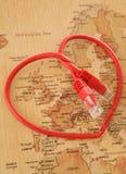 Datation en ligne autour du monde Image stock