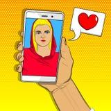Datation en ligne, concept de fond de relations illustration de vecteur