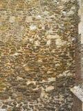 Datation en pierre antique de mur d'église de XVIème siècle Photos stock