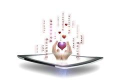 Datation et romance en ligne Images libres de droits