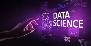 Datavetenskap och lära djupt Konstgjord intelligens, analys Internet och modernt teknologibegrepp stock illustrationer