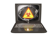 Datavirus begreppsmässig bild Arkivfoton