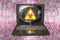 Datavirus begreppsmässig bild Arkivbilder