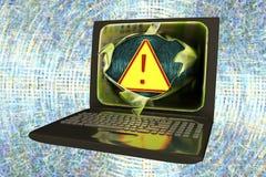 Datavirus begreppsmässig bild Arkivbild