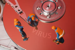 Datavirusbegrepp royaltyfri foto
