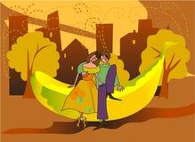 Datazione della banana royalty illustrazione gratis