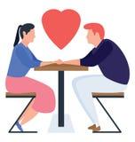 Datazione delle coppie royalty illustrazione gratis