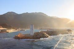 Datca Datca博德鲁姆渡轮的kairos小游艇船坞 免版税库存图片