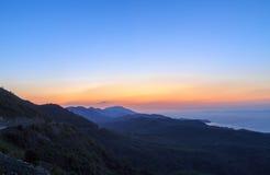 Datca góra podczas zmierzchu Zdjęcia Royalty Free