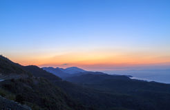 Datca mountain during sunset Royalty Free Stock Photos