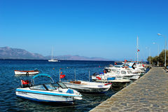 Datca Small Harbour Royalty Free Stock Photography