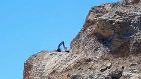 DATCA, TURKIJE - MEI 2015: steengroeve, het werkgebied van de steenkuil stock videobeelden