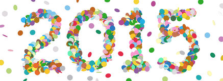 Date abstraite d'année de confettis - 2015 Image stock