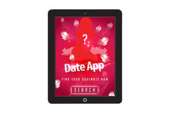 Date app Template for mobile app and website design Stock Photos