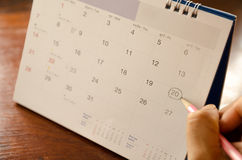 Date appoint. Calendar is showing importance date appoint Royalty Free Stock Photo