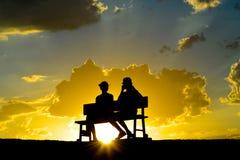 Date au point de Zabriskie au coucher du soleil Photographie stock