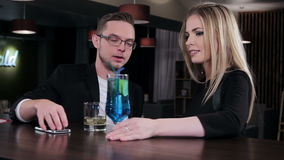 A date at the bar stock footage