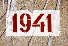Date of the beginning of World War II Royalty Free Stock Images
