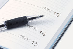 Date Book. For keeping business times and appointments Stock Image