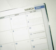 Date book March 2007. For appointments and dates stock photography