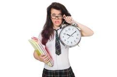 Date-butoir absente d'examen de jeune étudiant d'isolement Images stock