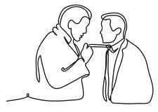 Date-butoir dans le bureau Le patron hurle au directeur Illustration professionnelle de vecteur d'isolement sur le fond blanc con Illustration de Vecteur