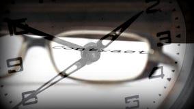 Date-butoir de contrat Image stock