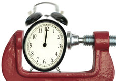 Date-butoir de pression de temps Photo stock