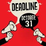 Date-butoir - 31 octobre, illustration de vecteur Illustration de Vecteur