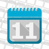 Date button, Calendar sign icon. 11 day month symbol. Vector icon vector illustration