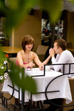 Date in cafe Stock Photo