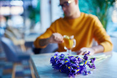 Date in cafe Stock Photos