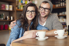 Date at cafe Royalty Free Stock Photo