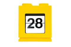Date calendar. With yellow 28 Stock Image