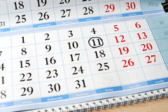 Date on calendar is marked with black circle Royalty Free Stock Images