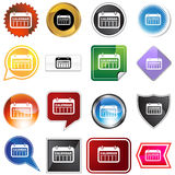 Date Calendar Variety Icon Set. Date calendar isolated on a white background Royalty Free Stock Image