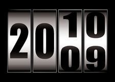 Date change 9 to 10. New year date change from 2009 to 2010 with dial royalty free illustration