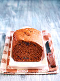 Date and chocolate cake loaf Royalty Free Stock Image