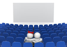 Date in cinema Stock Photography