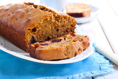 Date and coffee cake Royalty Free Stock Images