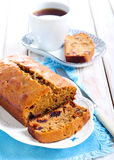 Date and coffee cake Royalty Free Stock Photos