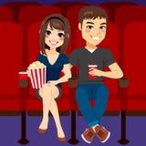 Date de cinéma de couples Photo stock